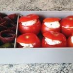 bento viande grisons tomates farcies 2 - Bento mini tomates farcies et viande séchée des Grisons