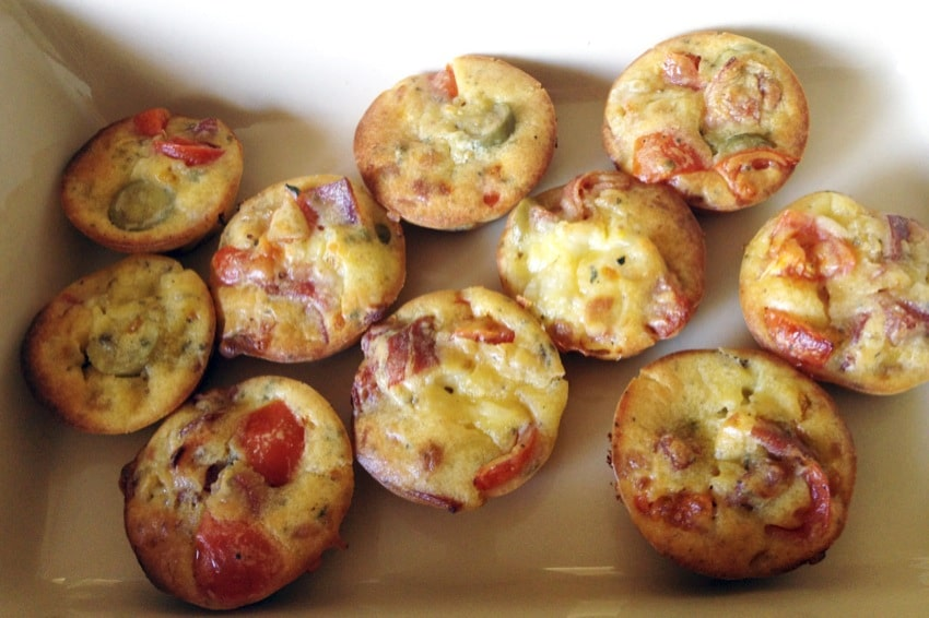 muffins pizza 1 - Muffins apéritif façon pizza