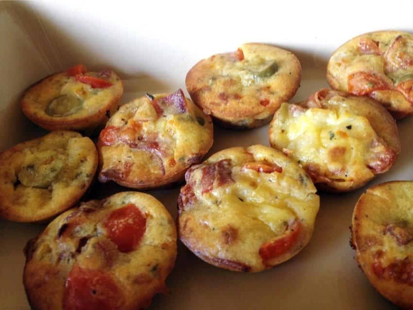 Recette de Muffins apéritif façon pizza