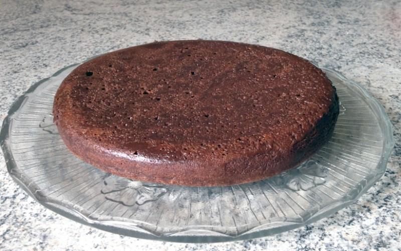 fondant choco bain marie 1 - Zebra cake vanille-chocolat (Gâteau zébré / tigré)