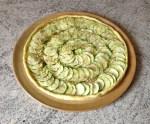 tarte courgette parmesan miel sesame 2 - Tarte aux courgettes, parmesan, miel, sésame