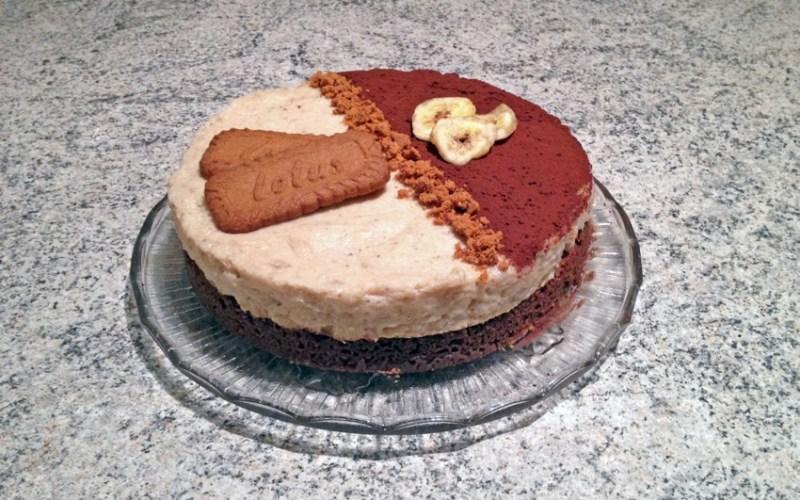 douceur des iles banane speculoos 2 - Zebra cake vanille-chocolat (Gâteau zébré / tigré)