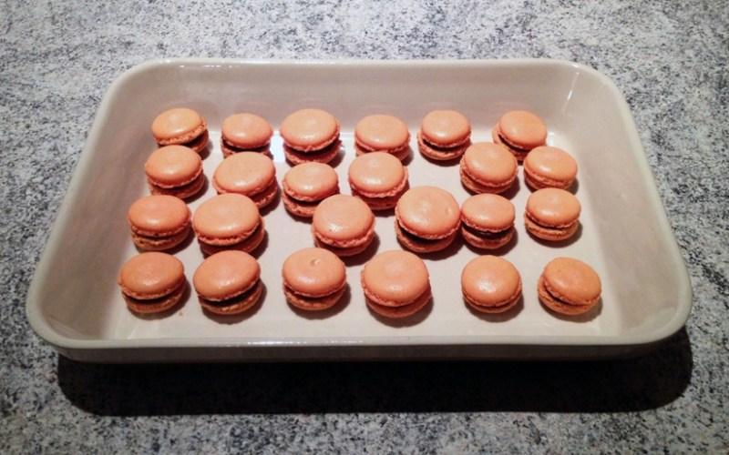 macarons chocolat clementine 2 - Zebra cake vanille-chocolat (Gâteau zébré / tigré)