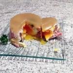 oeufs gelee endives jambon 3 - Oeufs pochés en gelée, endives, jambon et pignons de pin