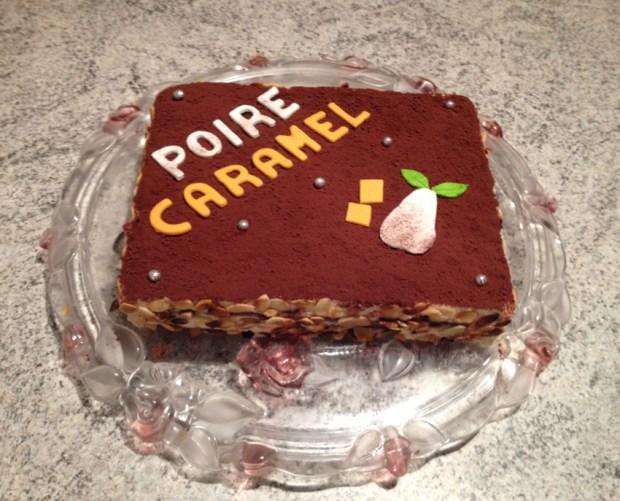 gateau poire caramel 1 - Dossier : Gâteaux d'anniversaire