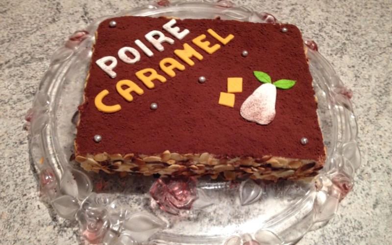gateau poire caramel 1 - Zebra cake vanille-chocolat (Gâteau zébré / tigré)