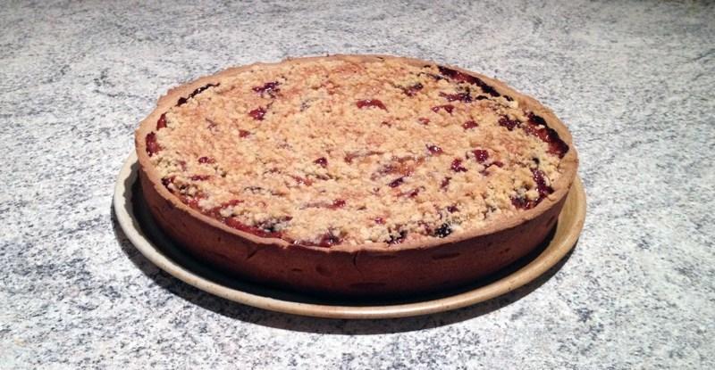 tarte quetsches amandes crumble 2 - Zebra cake vanille-chocolat (Gâteau zébré / tigré)