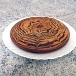 zebra cake 1 - Zebra cake vanille-chocolat (Gâteau zébré / tigré)