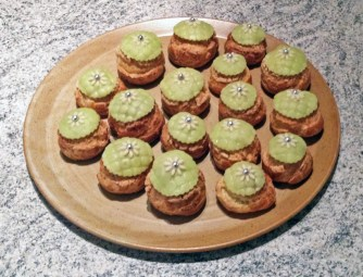 Recette de Choux à la crème de pistaches