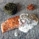 pave saumon creme ciboulette 1 - Pavé de saumon grillé à la crème de ciboulette