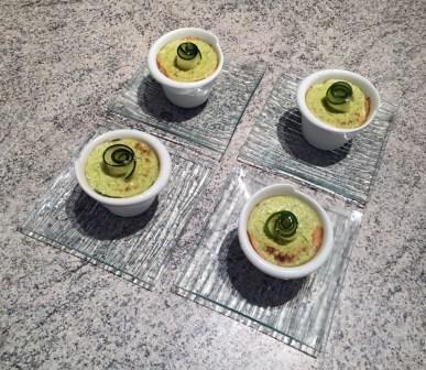 Mousse de courgettes au saumon fumé