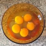 omelette courgette poivron prepa 2 - Omelette courgette, oignon, poivron