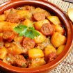pommes de terre au chorizo - Compote pommes / cannelle (recette Companion)