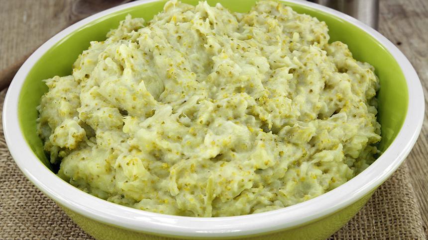 purre pomme de terre brocolis2 - Purée de brocolis et pommes de terre (recette Companion)