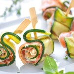roules courgette saumon 1 - Roulés apéritifs courgettes, fromage frais, saumon fumé