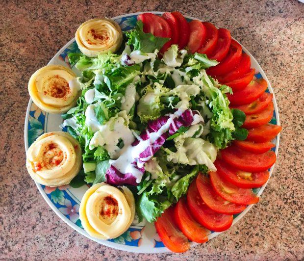 IMG 4095 - Salade poulet, bacon, tomate et artichaut
