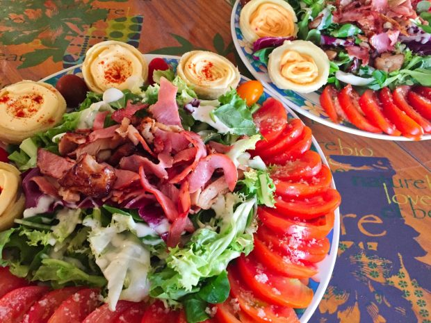 IMG 4097 - Salade poulet, bacon, tomate et artichaut