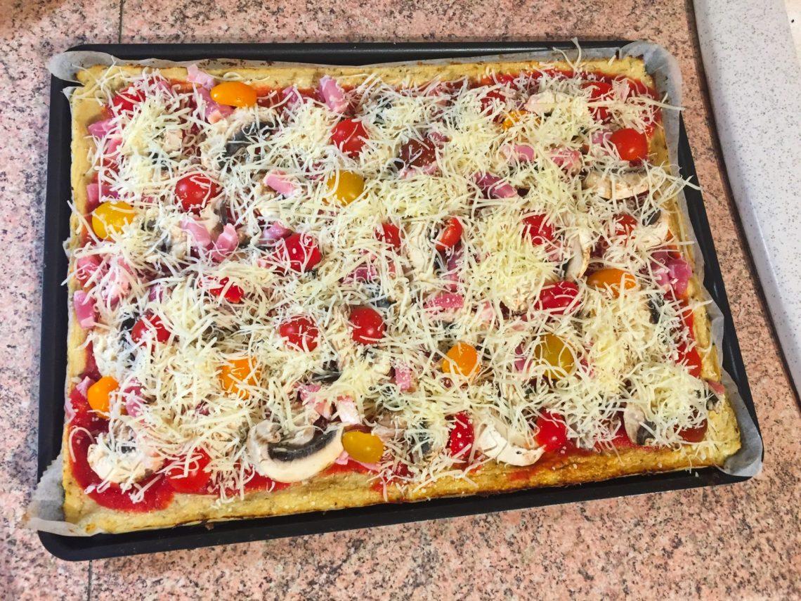 IMG 3568 - Pizza et sa pâte au chou-fleur (sans farine)