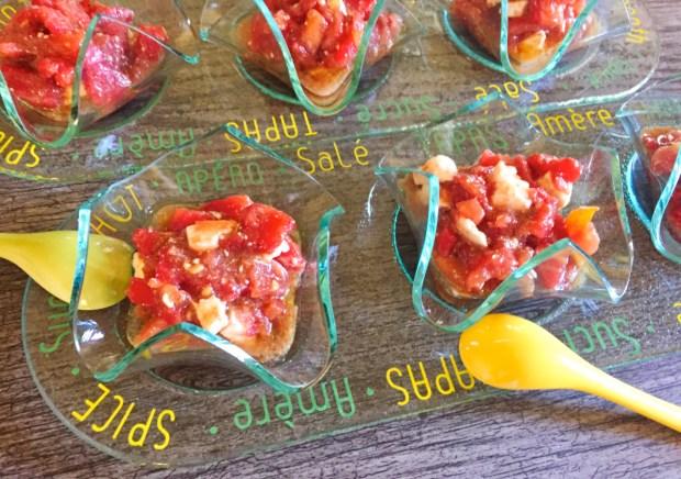IMG 4383 - Verrines de tomates à la feta