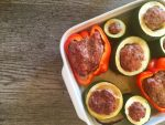 IMG 4390 - Courgettes et poivrons farcis