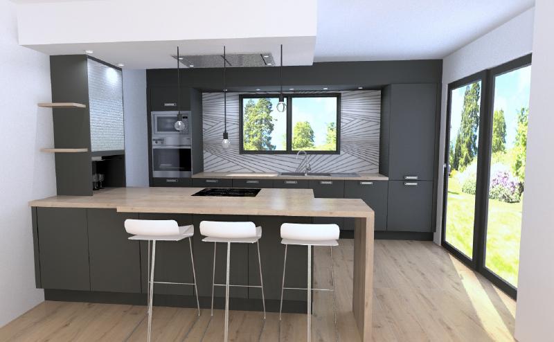 petit espace cuisine avec large plan