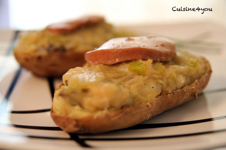 Patatas rellenas de setas y foie ración