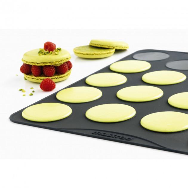 feuille de cuisson pour grands macarons mastrad lot de 2