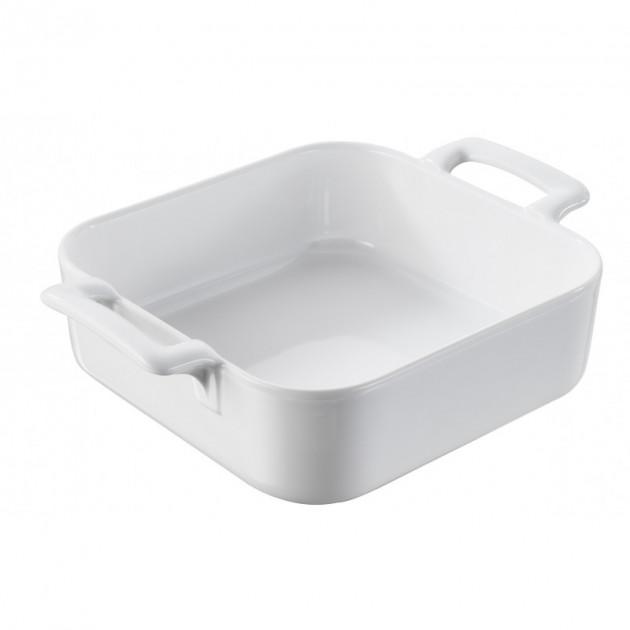 plat carre blanc 20x20 cm belle cuisine revol