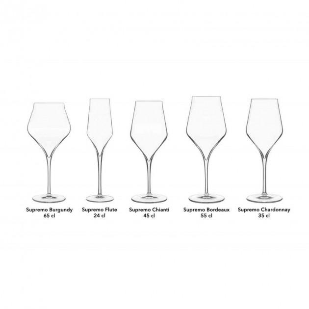 verre a vin rouge bordeaux 55 cl x6 luigi bormioli supremo