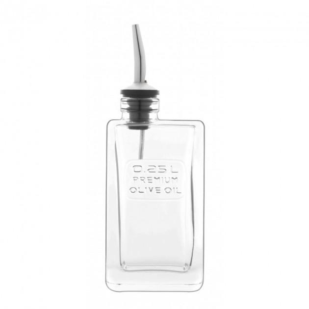 bouteille huile d olive rectangulaire 0 25 l luigi bormioli optima
