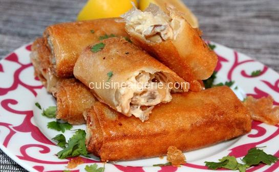 Bourek poulet-champignon à la béchamel