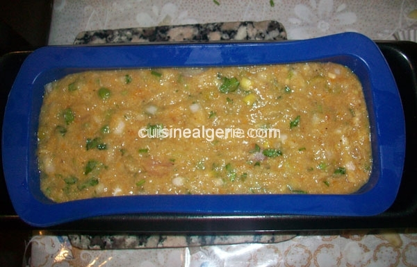 Terrine de blanc de poulet et légumes - préparation