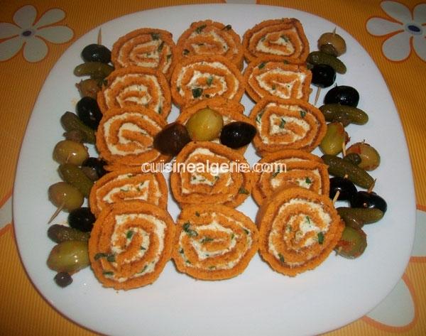 Biscuit roulé au fromage