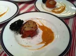 scallop seared marinated wrapped in smoked salmon vanilla bean glaze