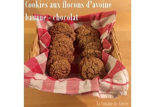 Cookies aux flocons d'avoine choco-banane