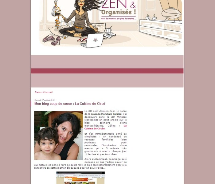 Mon interview chez Zen & Organisée