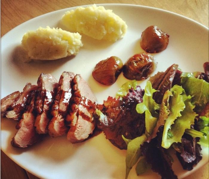 Retour d'une vieille recette : le magret de canard aux figues