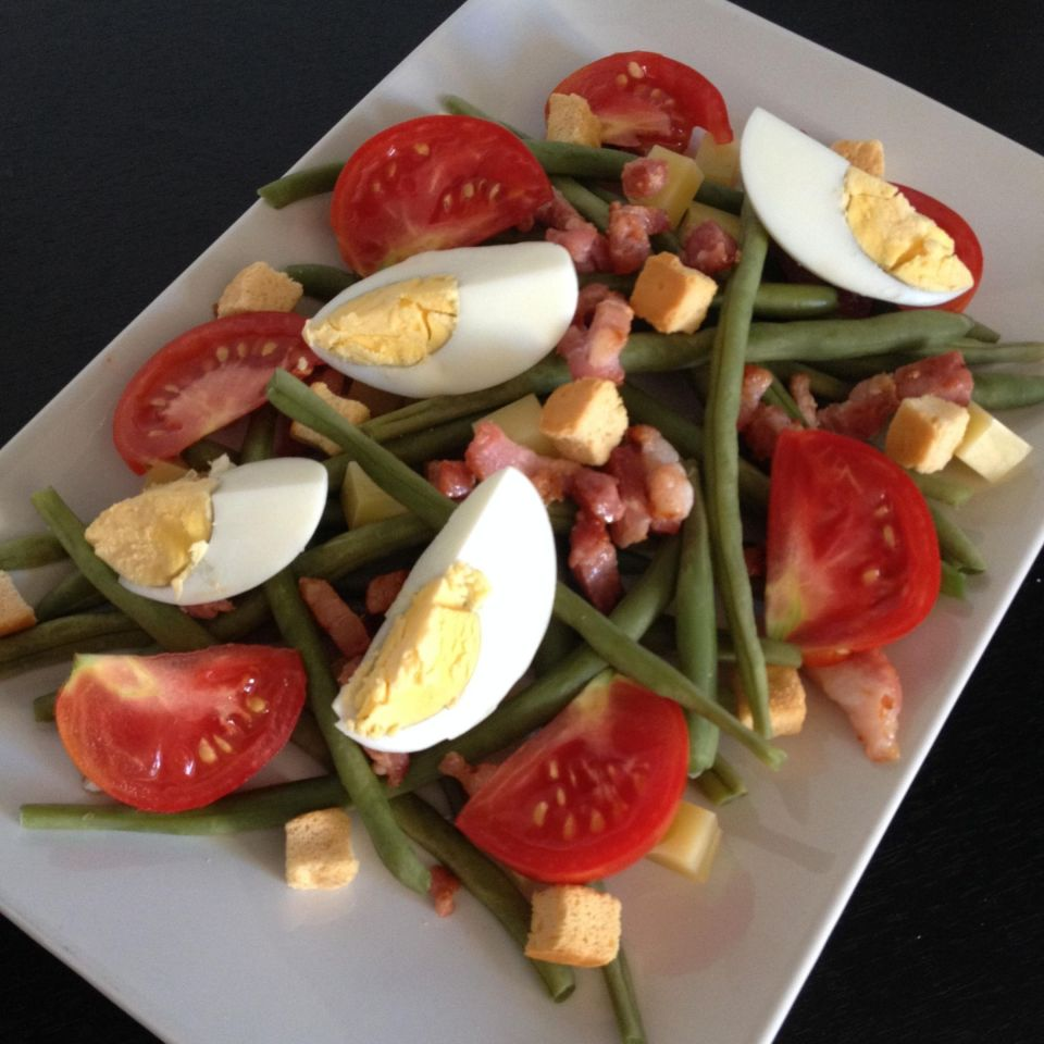 salade haricots verts lardons