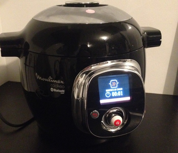 Premier test du Cookeo Connect de Moulinex : soupe de lentilles aux lardons
