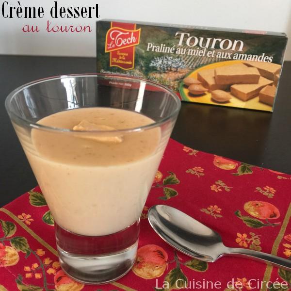 Crème dessert au Touron de la Confiserie Le Tech