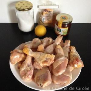 pilons poulet miel coriandre 01