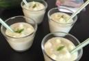 Soupe froide au concombre et fromage de brebis Salakis