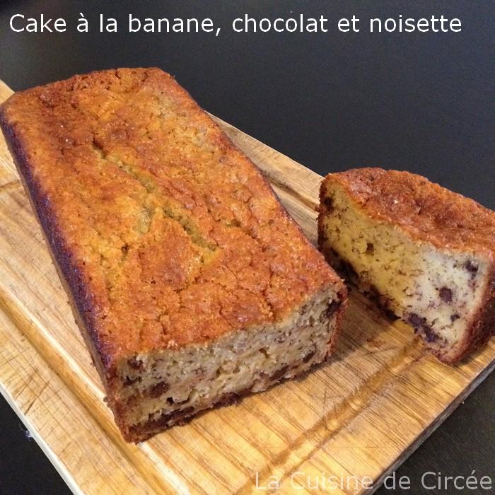 Cake à la banane chocolat noisette