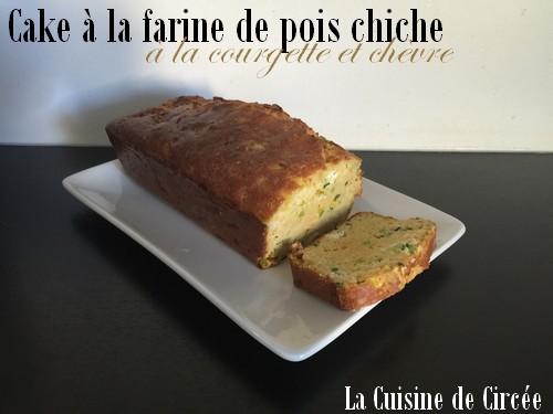 Cake à la farine de pois chiche courgette et chèvre (sans gluten)