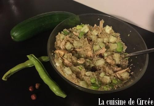 Taboulé vert aux fèves et au poulet