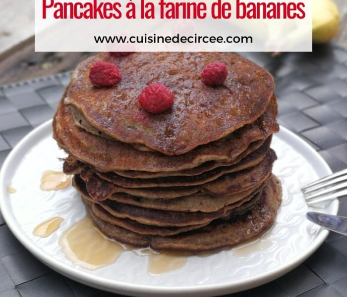 Pancakes à la farine de bananes