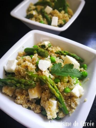 salade de petits pois asperges
