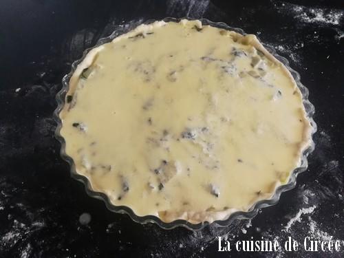 Tarte légère aux blettes et fromage de chèvre
