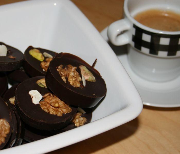 Chocolats façon mendiants