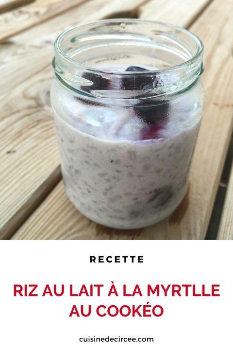 riz au lait à la myrtille au Cookéo